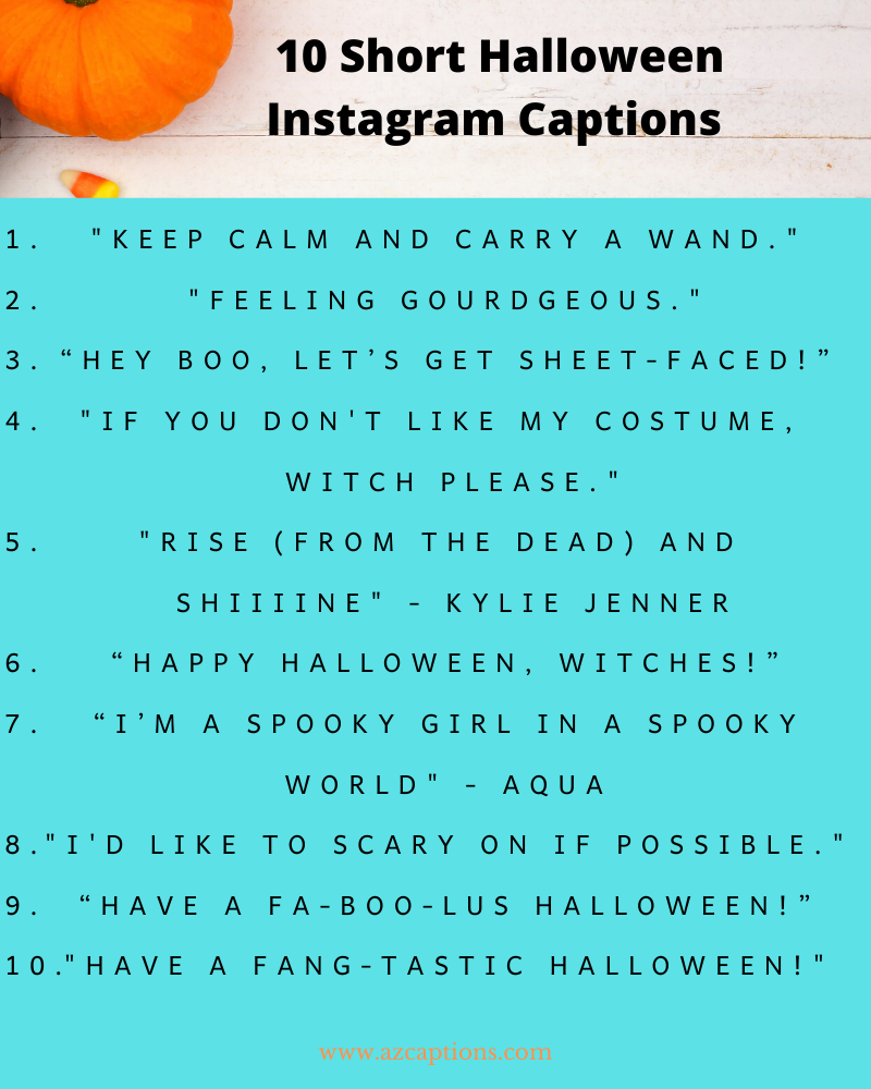 Funny Halloween Instagram captions