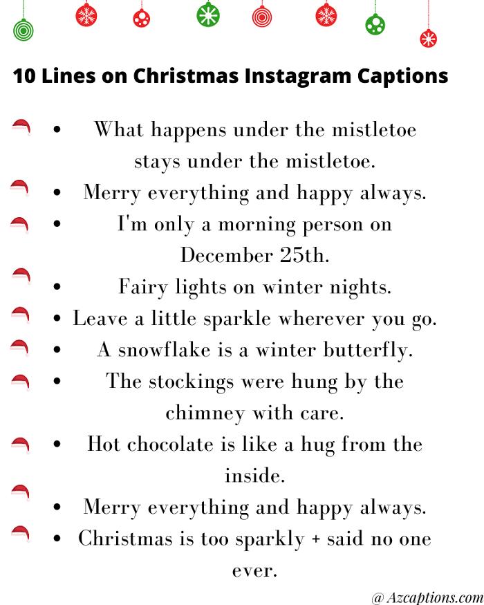 70+51} Christmas Instagram Captions