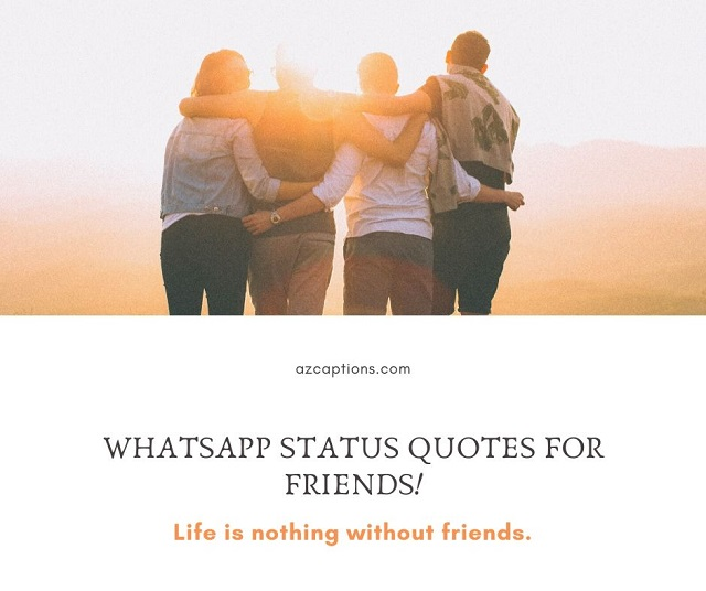 Whatsapp Status Quotes for Friends