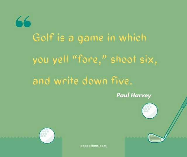 Funny Golf Captions