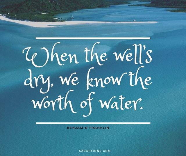 Short Water Quotes